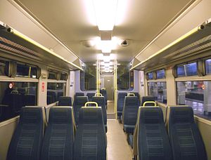British Rail Class 456 - The interior of a Southern Railway refreshed Class 456.