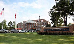 Southern Arkansas University - Image: Southern Arkansas University's Overstreet Hall