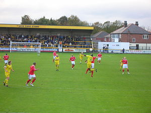 Kidderminster Harriers F.C. - Kidderminster (in red) playing Southport in 2005