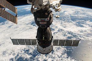 Soyuz MS-01 - Soyuz MS-01 docked to the ISS