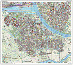 Spijkenisse - Dutch Topographic map of Spijkenisse (place), as of Sept. 2014
