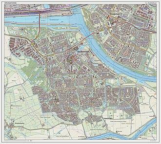 Spijkenisse - Dutch Topographic map of Spijkenisse (place), as of Sept. 2014