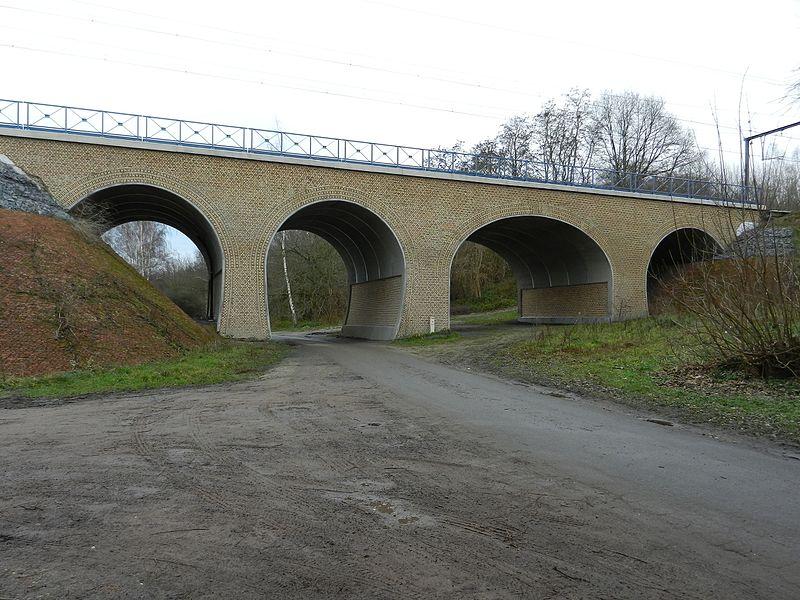 Spoorwegbrug te Melle