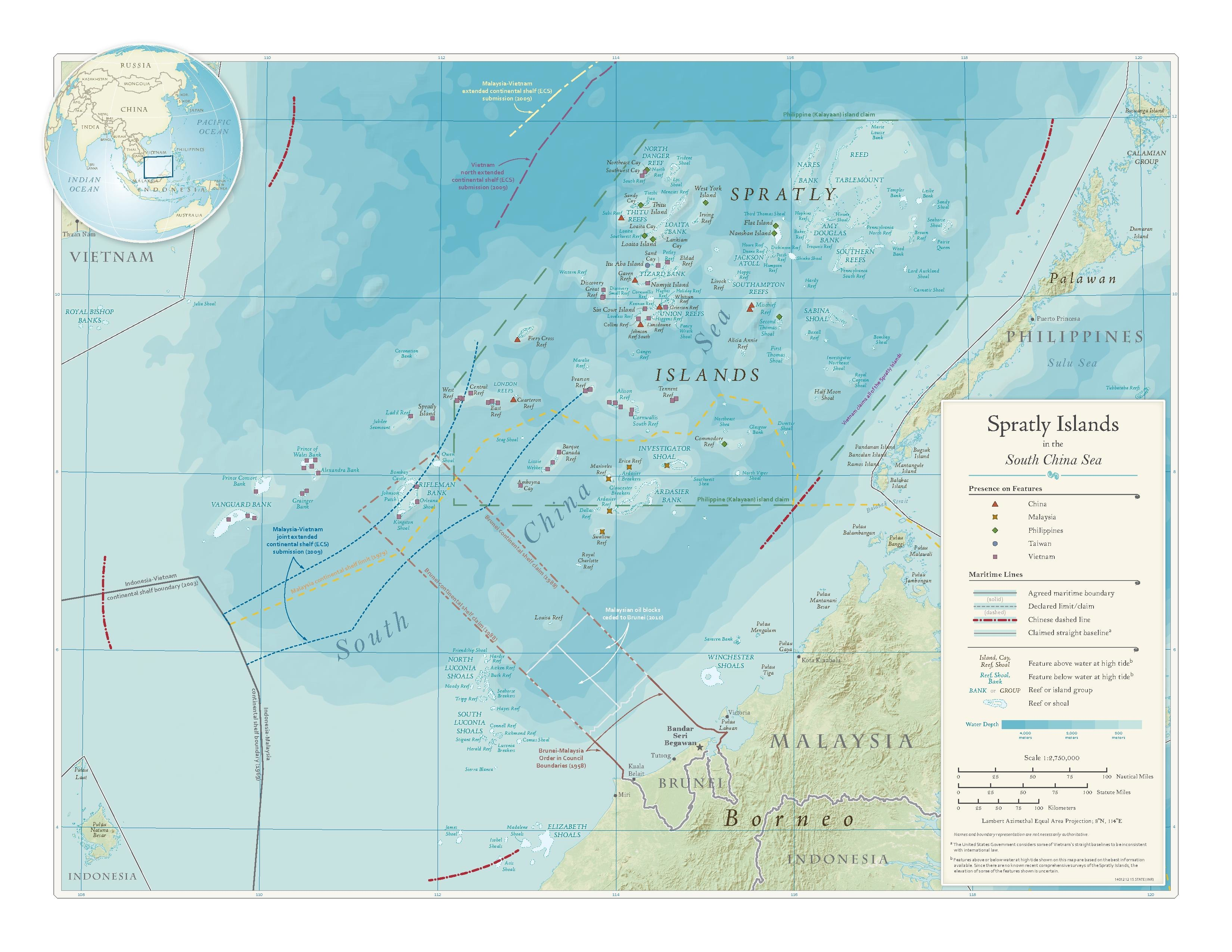Datei:Spratly Islands in the South China Sea Department of ...