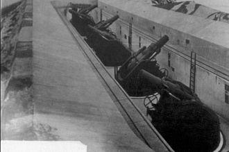 RML 9 inch 12 ton gun - Spy Glass Battery, Gibraltar