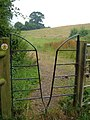 Squeeze gate stile on Cotswold Way - geograph.org.uk - 197374.jpg
