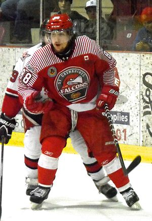 St. Catharines Falcons (1968–) - Falcons player 2014 playoffs.