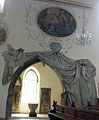 St. Laurentius in Kenzingen, Stuckvorhang zur Hürnheimerkapelle.jpg