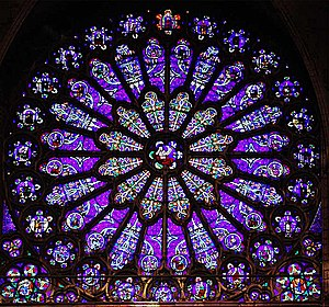Genealogy of Jesus - Rose window in Basilica of St Denis, France, depicting the ancestors of Jesus from Jesse onwards.