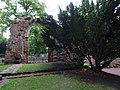 St John the Baptist Parish Church, Chester - remains of former east end east of present building 01.jpg