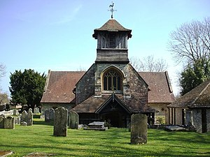 Grade II* listed buildings in Eastleigh (borough) - Image: St Leonard's and St Paul's of Bursledon geograph.org.uk 399548