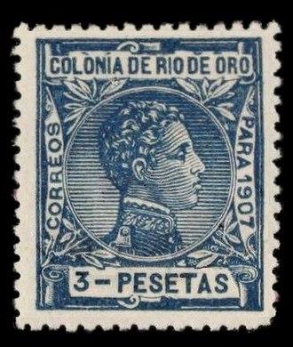 Río de Oro - Stamp of Rio de Oro issued in 1907.