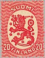 Stamp of Finland - 1920 - Colnect 45711 - Definitive series I-Lion type m-17 new colours.jpeg