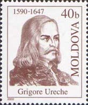 Grigore Ureche - Image: Stamp of Moldova md 437