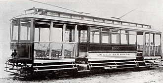 Market Street Railway (transit operator) - A United Railroads of San Francisco standard car circa 1905