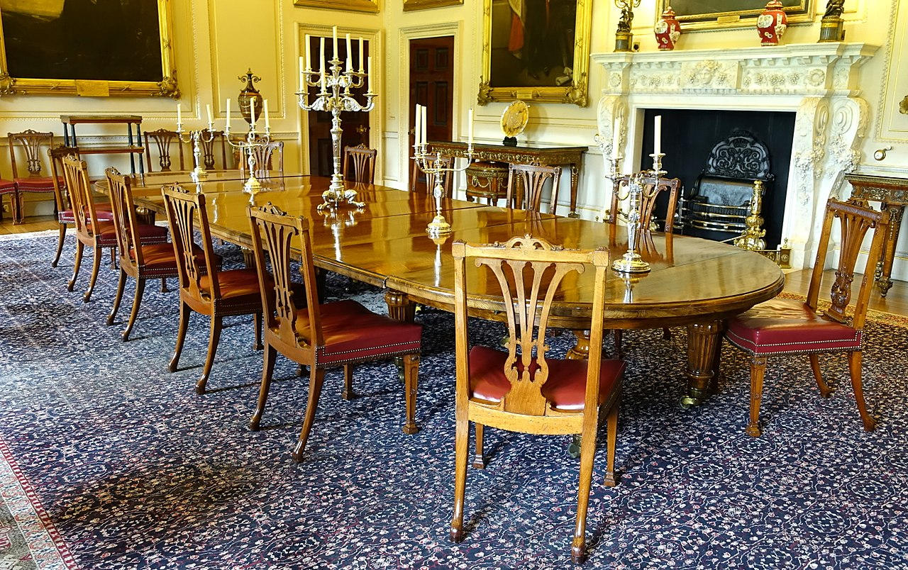 File state dining room harewood house west yorkshire