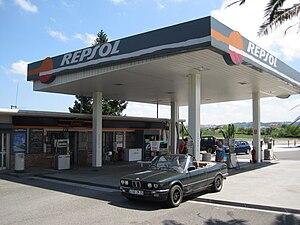 Repsol - A Repsol service station.