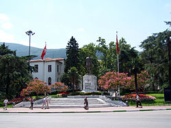 Statue of Atatürk and the Governorate of Bursa