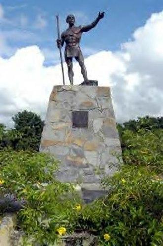 Jumacao - Statue of Cacique Jumacao