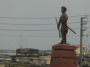 Statue of Phan Dinh Phung in District 5, Ho Chi Minh City, Vietnam