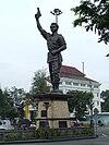 Patung Slamet Rijadi di Surakarta, Jawa Tengah.