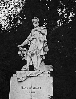 Hans Makart - Statute of  Hans Makart in Vienna