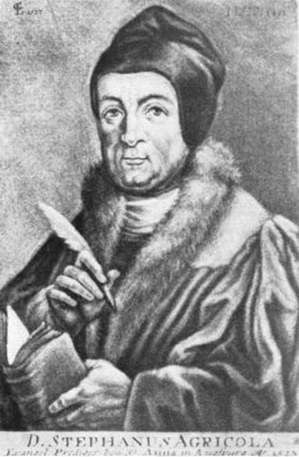 Hof, Bavaria - Theologian and Church Reformer Stephan Agricola was pastor at St. Michaeliskirche in Hof beginning in 1532