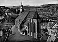 Stiftskirche Tübingen. Luftbild von Osten (AK 541G145 Gebr. Metz).jpg