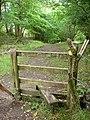 Stile on former tramroad incline - geograph.org.uk - 960285.jpg