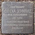 Stolperstein Arnstadt Mispelgütchen 3-Eva Schwarz.JPG