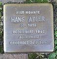 Stolperstein Lüdinghausen Mühlenstraße 42 Hans Adler.jpg
