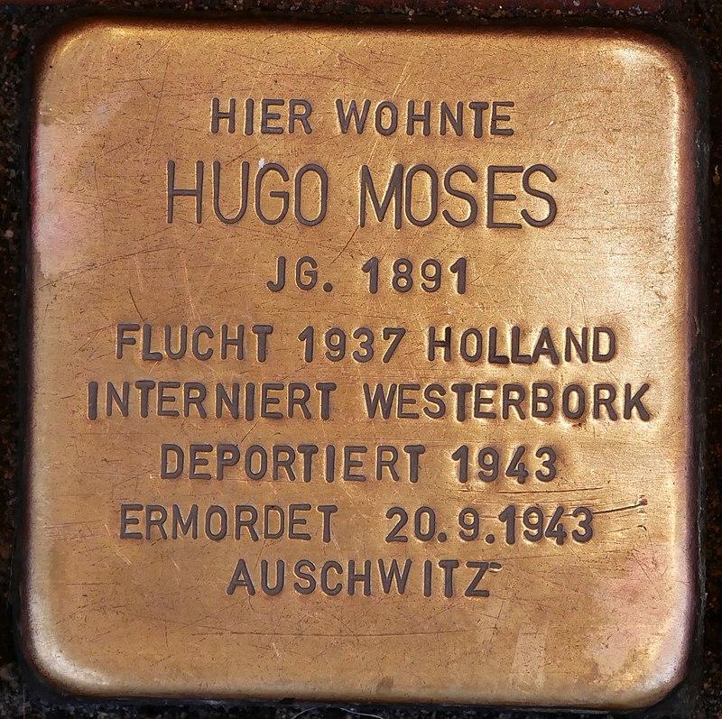 Stolperstein Neustr 35 Dinslaken Moses Hugo
