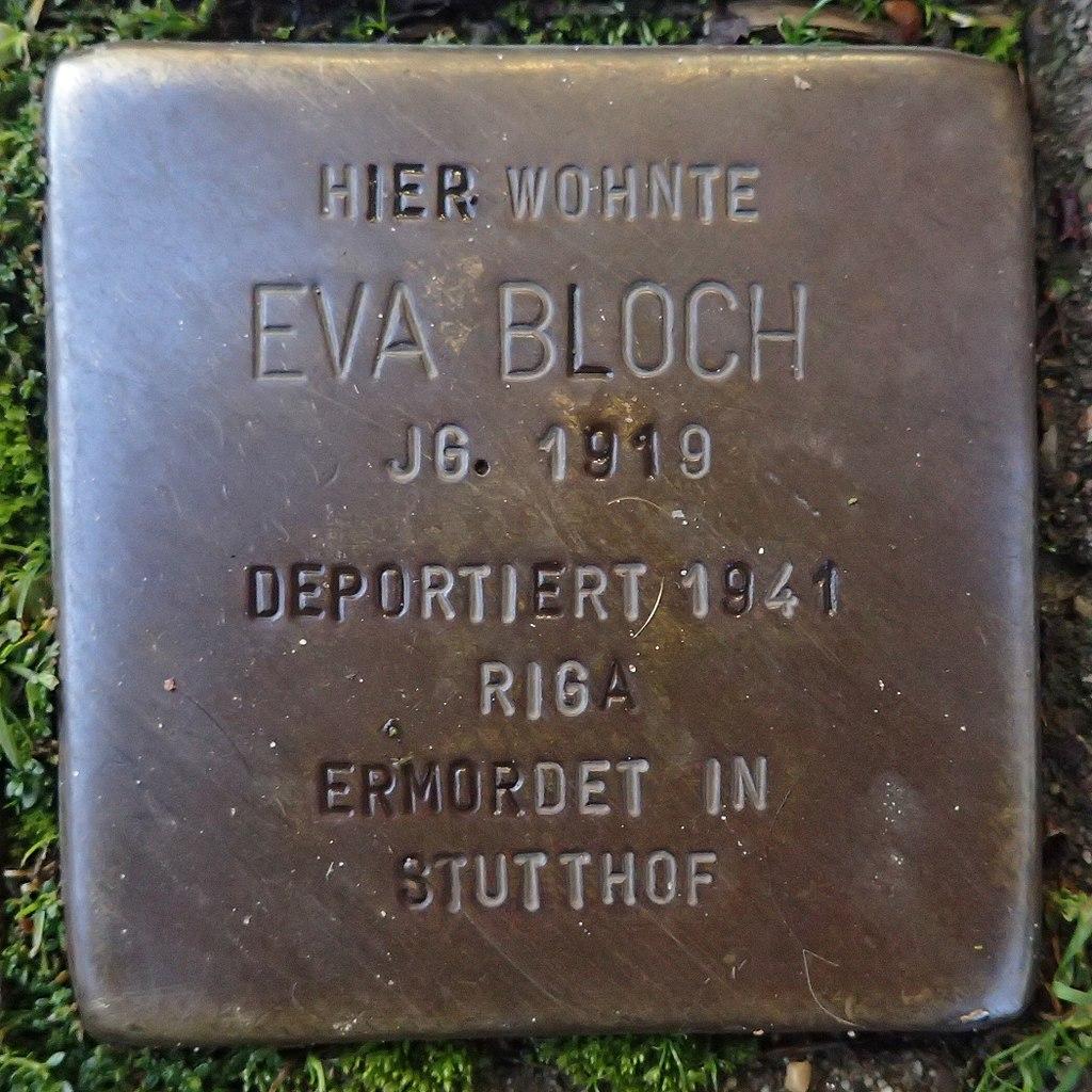 Stolperstein für Eva Bloch
