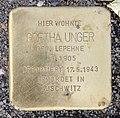Stolperstein Tegeler Weg 95 (CharN) Gretha Unger.jpg