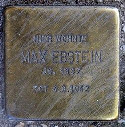 Photo of Max Ebstein brass plaque
