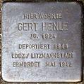 Stolpersteine Köln, Gert Henle (Redwitzstraße 87).jpg