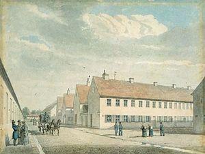 Store Kongensgade - Store Kongensgade in 1849, painting by Heinrich Gustav Ferdinand Holm
