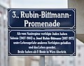 Straßenschild Rubin-Bittmann-Promenade (Wien).jpg