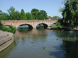 Der Avon in Stratford-upon-Avon
