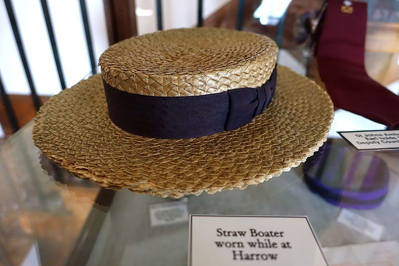 File:Straw Boater worn while at Harrow - Shugborough Hall - Staffordshire, England - DSC00423.jpg