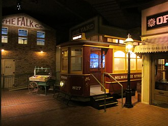 """Milwaukee Public Museum - The new """"streetcar"""" entrance to the Streets of Old Milwaukee"""