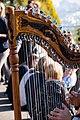 Street musician in Montmartre - harp 2, Paris 20161030.jpg