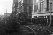 Streetcar at Seattle City-County Building (now King County Courthouse), 1918 (22936828611).jpg
