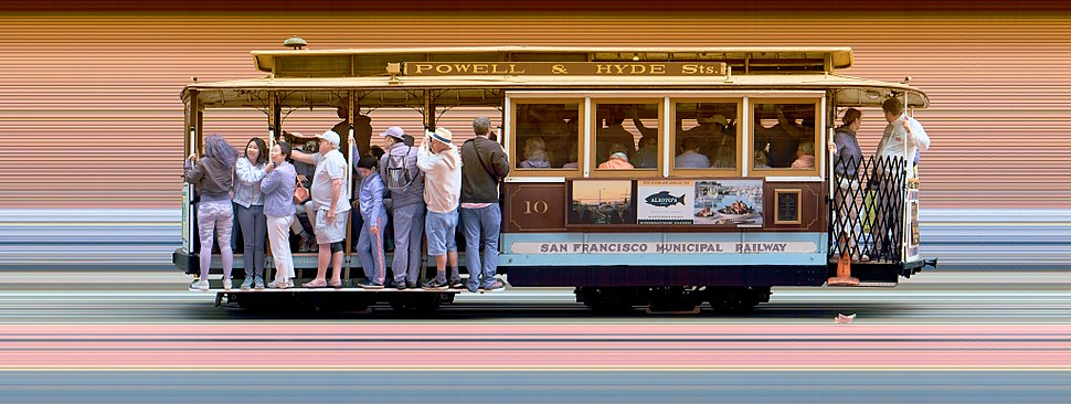 Strip photo of San Francisco Cable Car 10