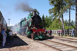 Lebyazhye, Lomonosovsky District, Leningrad Oblast - Su 206-56 in steam in the Lebyazhye Railway Museum