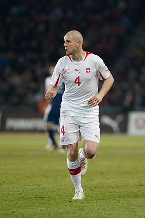 Philippe Senderos - Senderos in action for Switzerland in 2012 in a match against Argentina