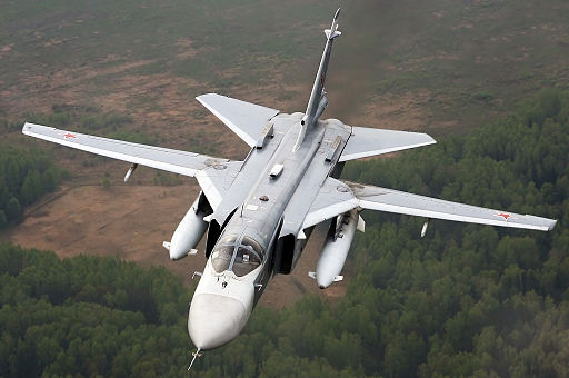 Sukhoi Su-24 inflight Mishin-2