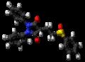 Sulfinpyrazone molecule ball.png
