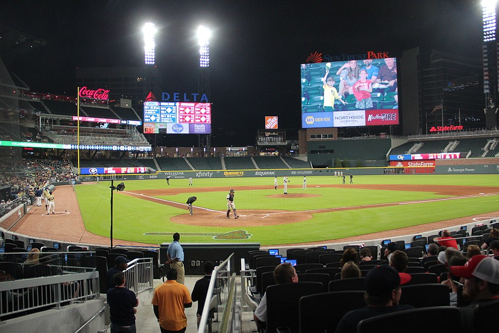 SunTrust Park view behind home plate, May 2017
