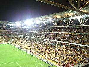 Brisbane Broncos - View of the current Brisbane Broncos home ground, Suncorp Stadium.